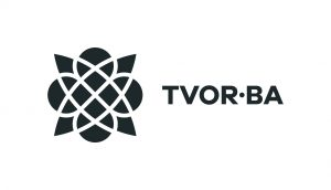 TVOR•BA logo horizontálne čiernobiele