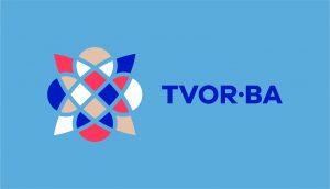 TVOR•BA logo horizontálne farebné na svetlom podklade