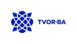 TVOR•BA logo horizontálne modré