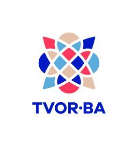 TVOR•BA logo vertikálne farebné