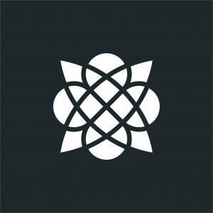 TVOR•BA piktogram čiernobiely inverzný